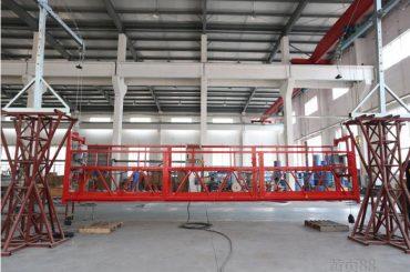 10 метри алуминиумска легура суспендирана работна платформа со дигалка ltd8.0